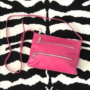 HOBO International Mara Zip Pink Crossbody Bag